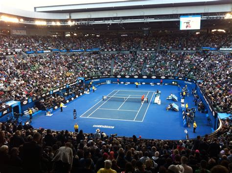 best seats rod laver arena tennis technology meets tennis the australian open then and now