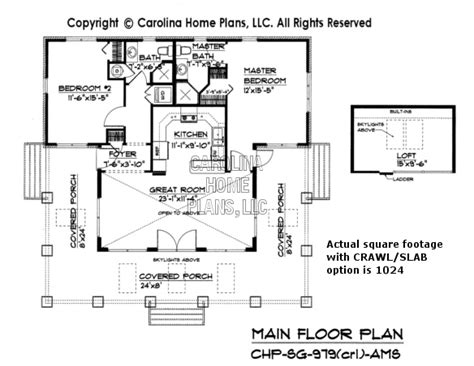 Crawl Space House Plans by Small Craftsman Bungalow House Plan Chp Sg 979 Ams