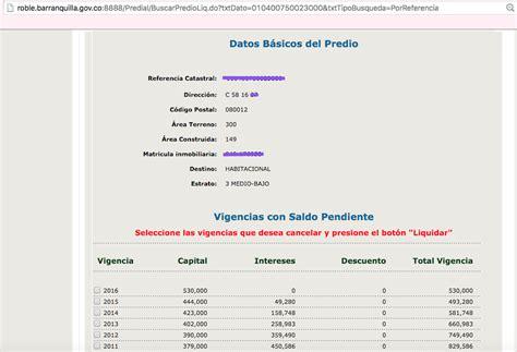 impuesto predial cartagena 2016 impuesto predial 2016 en barranquilla impagable