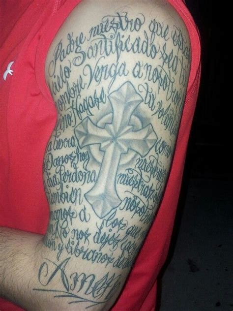 tattoo padre nuestro latin tattoo lords prayer in spanish el padre nuestro