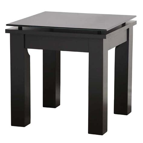 Black End Tables Plateau Sl Series Black Wood Floating Glass End Table Clear Or Black Glass Sl Te