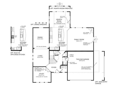 fischer homes floor plans fischer homes bradford floor plan home design and style