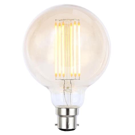 vintage filament 6 watt globe b22 bayonet cap led light bulb gold tint from litecraft