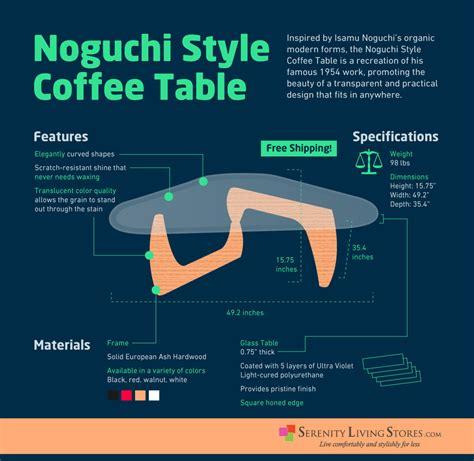 noguchi style coffee table inspired  isamu noguchi