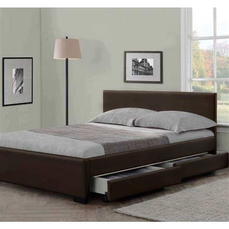 leather beds modern italian designer 4 drawer leather bed luxury