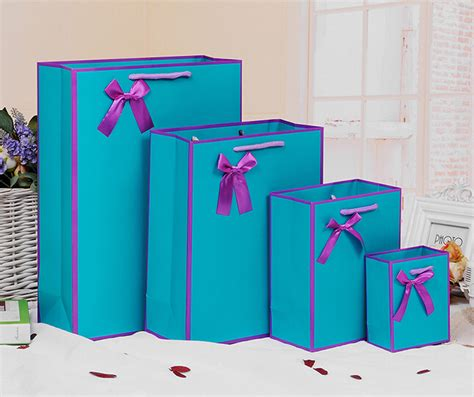 design home gift and paper free design 100pcs lot blue paper gift bag best gift
