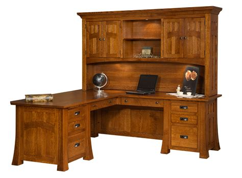 Office Corner Desk With Hutch Furniture Cool Corner Desk With Hutch For Your Home Design Ideas