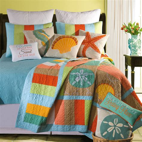 washed ashore themed quilt bedding quilt home and