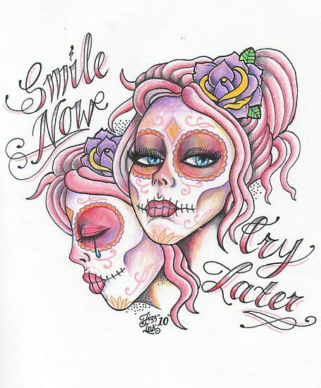 tattoo designs smile now cry later smile now cry later on chicano chicano