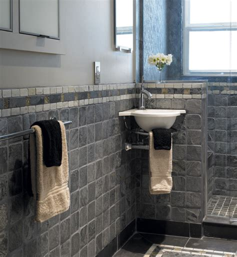 slate bathroom ideas i similar square slate tile on the floor of my small