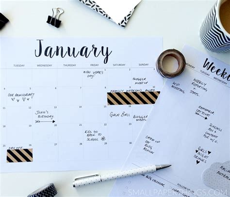 Calendrier Do It Yourself Diy 9 Calendriers Printables 2016 Le D Interior S