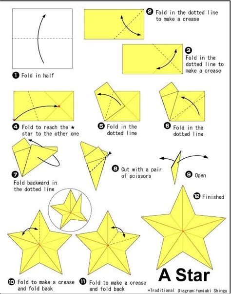 How To Make A 5 Point Out Of Paper - 25 best ideas about origami on diy
