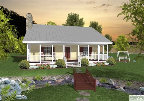 house plans with front and back porches 953 sq ft small house design the house designers