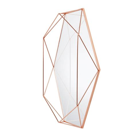 copper wall mirror uk buy umbra prisma mirror copper amara