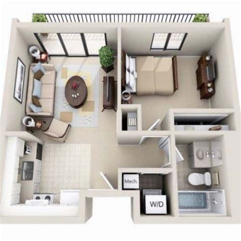 small 1 bedroom house plans beautiful 3d small house floor plans one bedroom on budget home design house