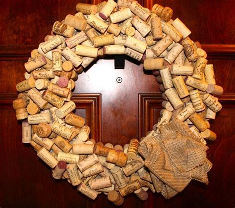 wine cork wreaths wine cork