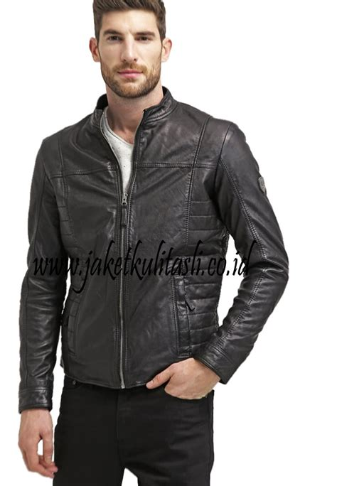 Jual Jaket Kulit Pria Terbaru jaket kulit asli pria a461 jual jaket kulit asli