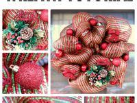 30 best deco mesh wreaths images on pinterest | xmas, deco