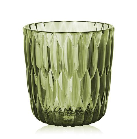 kartell vasi kartell vaso jelly verde pmma trasparente