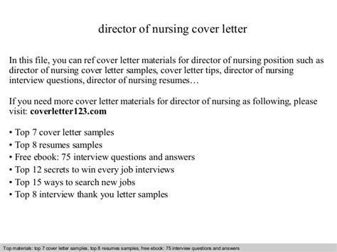 cover letter for nursing director director of nursing cover letter