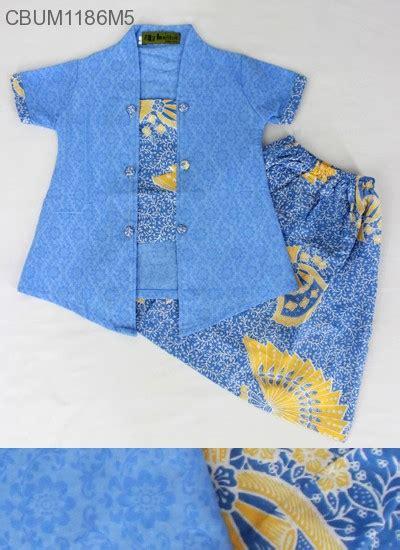 Setelan Baju Bayi Kancing Lengan Pendek Printing setelan anak kebaya pendek motif kipas setelan murah