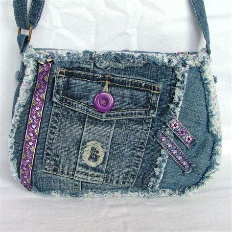 Denim Patchwork Bag - denim patchwork across shoulder bag poppypatchwork