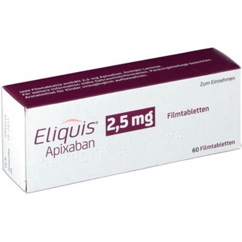 eliquis 5 mg tablet eliquis 2 5 mg filmtabletten доставка лекарств из