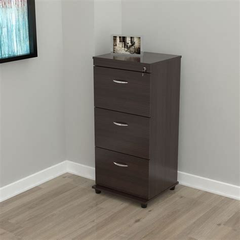 three drawer file cabinet three drawer espresso locking file cabinet ebay