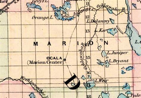 Marion County Property Appraiser S Office by Map Of Marion County Florida 1877