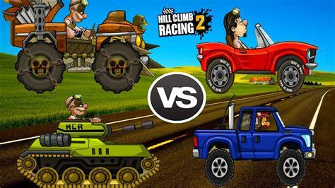 monster truck racing super hill climb racing 2 tank vs super diesel vs monster