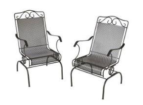 home depot napa  piece wrought iron patio chair set