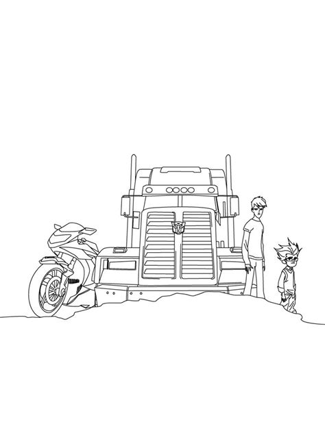 Optimus Prime coloring pages. Free Printable Optimus Prime