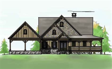 rustic house plans with basement 3 bedroom open floor plan with wraparound porch and