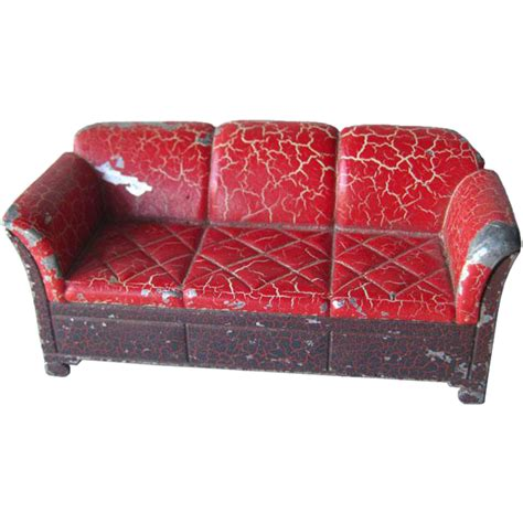 toy couch tootsie toy cast iron couch miniature dollhouse