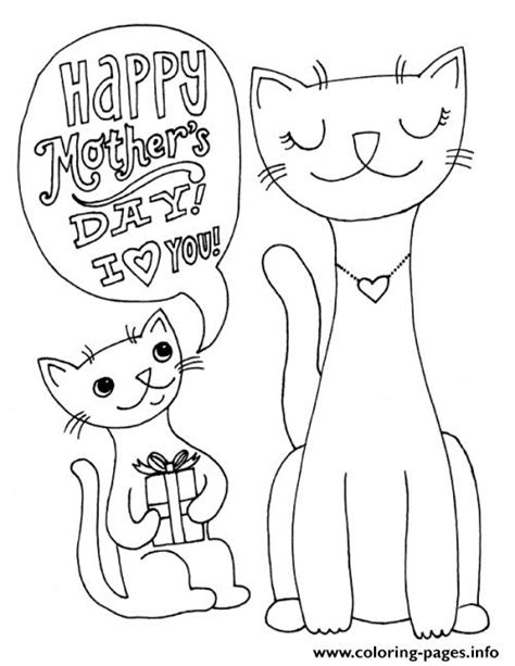 mother cat coloring page happy mothers day cats animal s2691s coloring pages printable