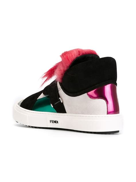 fendi sneakers fendi karlito sneakers in black lyst