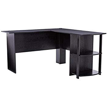 regency soho computer corner desk amazon com z line belaire glass l shaped computer desk