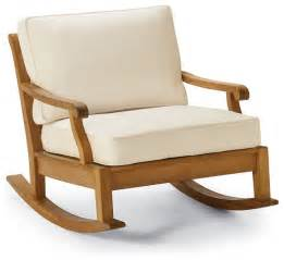 Outdoor Patio Rocking Chairs Cassara Rocking Outdoor Lounge Chair With Cushions Frontgate Patio Furniture Traditional