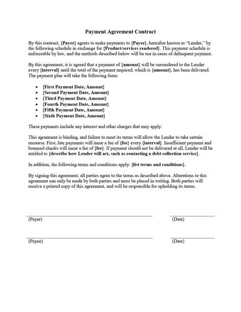 Template Repayment Agreement Template Repayment Agreement Letter Template