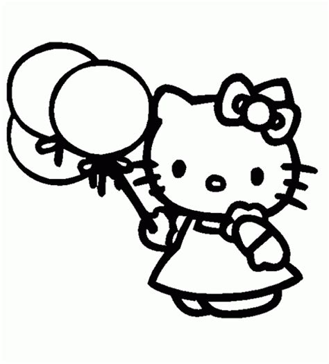 imagenes de kitty y melody coloriage hello kitty hello kitty tient trois ballons