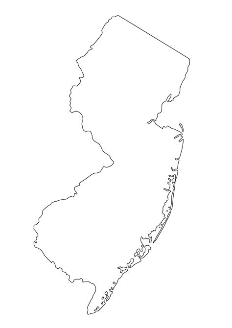 New Jersey State Map Outline by Graphics Us States Outline Maps Ask The Econsultant