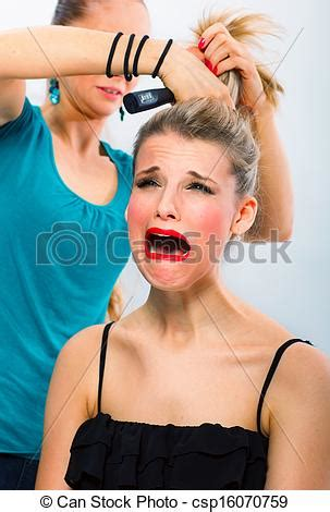 Hair Dresser For by Stock Images Of Frightened Unsatisfied With