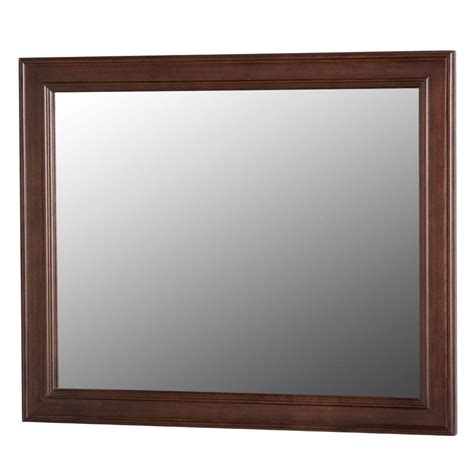 home decorators mirror home decorators collection annakin 31 4 in w x 25 6 in h wall mirror in cognac clwm26 cg the