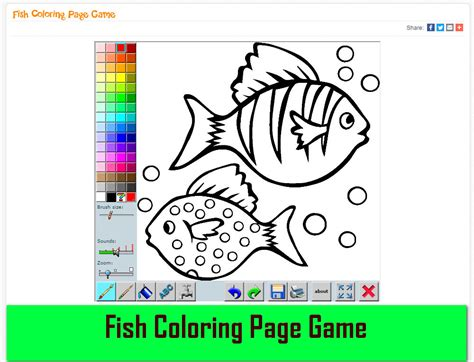 fish coloring pages games fish coloring page game mycoloringgame mycoloringgame