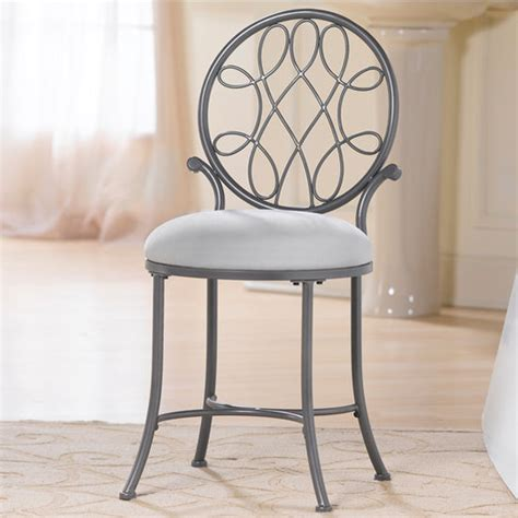 Hillsdale O Malley Vanity Stool by O Malley Collection Vanity Stool 16 Wide In Metallic