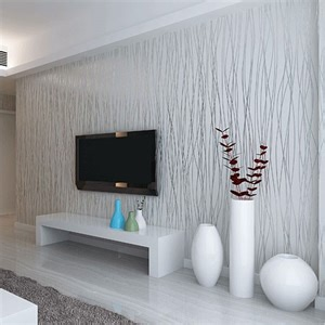 Woven Fashion Thin Flocking Vertical Stripes Wallpaper For Living Room » Home Design 2017