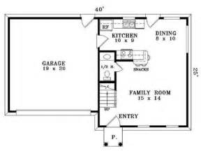 simple bedroom bath house plan plans floor