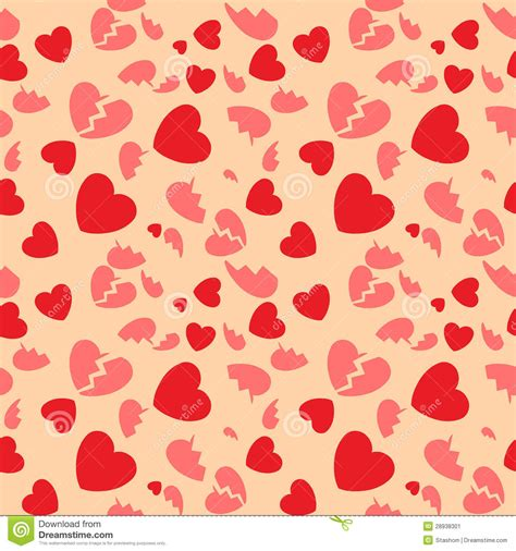 seamless pattern heart seamless pattern with hearts and the broken hearts stock