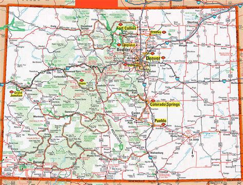 map of cities in colorado colorado lemke climbs