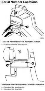 Volvo Penta Outdrive Identification Sterndrive Serial Number Separate From Engine The